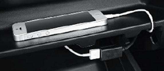 มิตซูบิชิ มิราจ ใหม่ รุ่นปี 2016 : ช่องต่ออุปกรณ์ USB ตำแหน่งใหม่