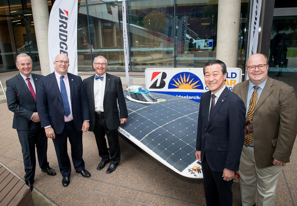 บริดจสโตน สนับสนุนการแข่งขันรถพลังงานแสงอาทิตย์