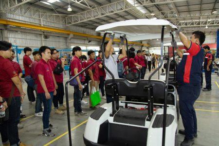 สถาบันเทคโนโลยีไทย-ญี่ปุ่น เยี่ยมชมโรงงานผลิตรถไฟฟ้า
