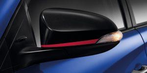 Toyota Yaris Ativ : กระจกมองข้างสีดำเปียโน