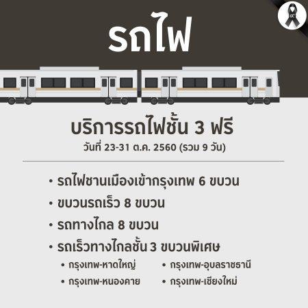 บริการขนส่งสาธารณะฟรี : รถไฟชั้น 3