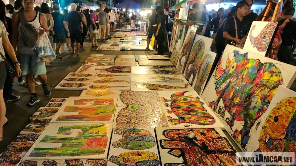 รีวิว แนะนำการเดินเที่ยว ถนนคนเดิน วันอาทิตย์ ท่าแพ เชียงใหม่ (Chiangmai Walking Street) งานศิลปะ งานหัตถศิลป์