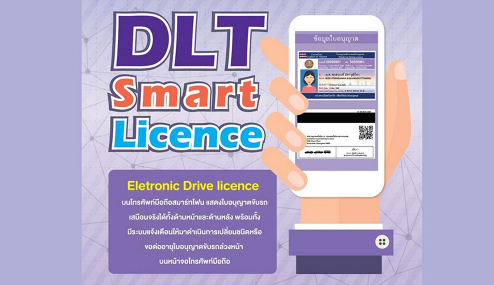 Electronic Driving Licence, ใบอนุญาตขับรถอิเล็กทรอนิกส์